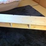 テレビ台 2×4(ツーバイフォー)の木材で自作した。