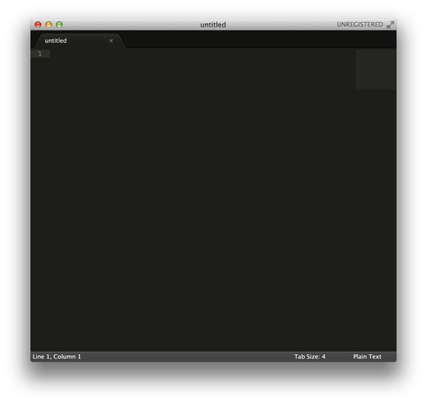 Sublime Text 2 起動