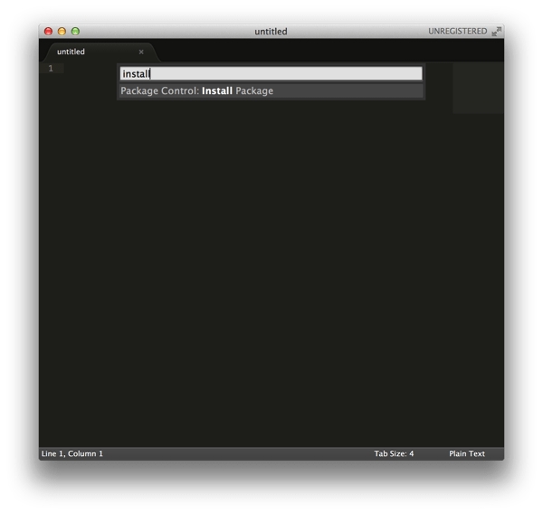 Sublime Text Package Control
