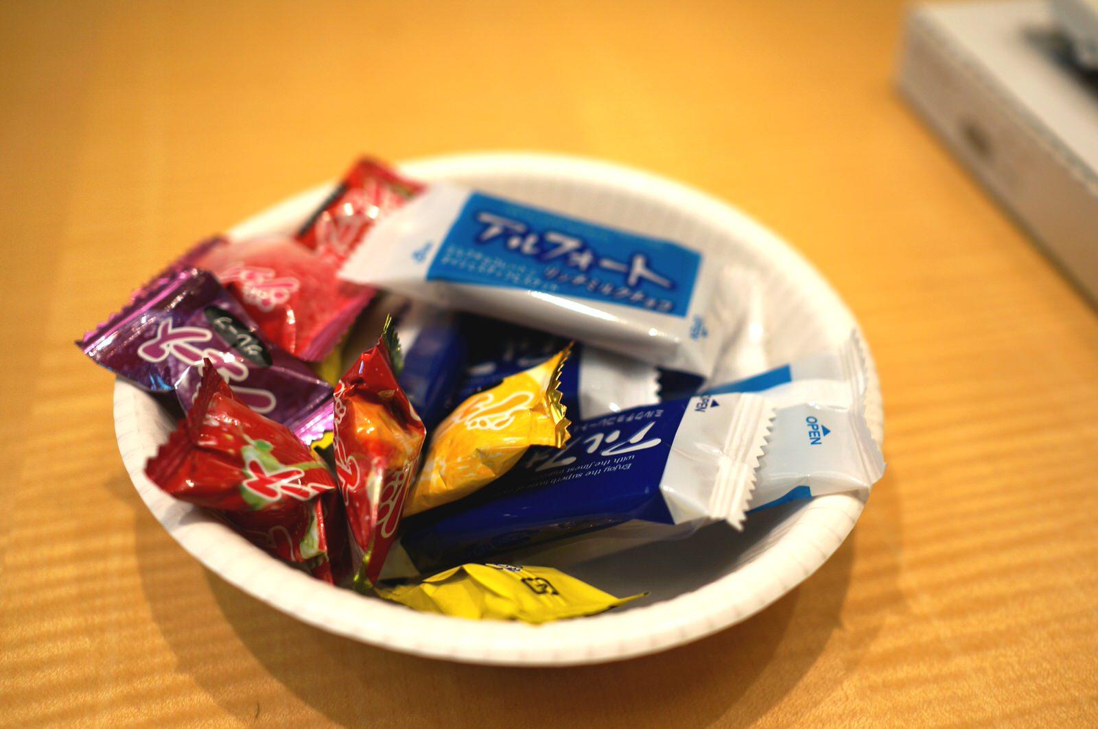 親指シフト道場 お菓子