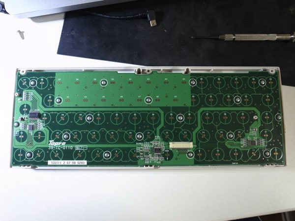 HHKB Professional2 Type-Sを分解 基板