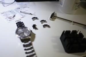 腕時計の金属バンドの掃除と調整を自分でやってみた -HAMILTON バリアントオート-