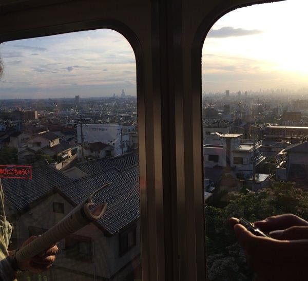 夕日の大阪平野