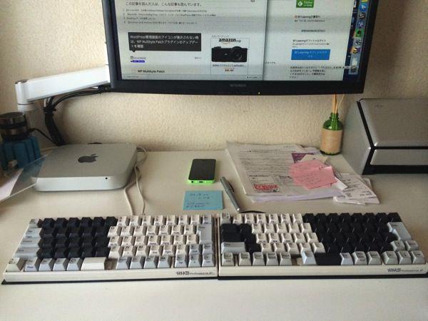 HHKBを2つ使うディアルキーボード