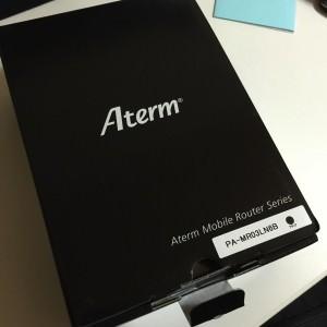 SIM制限なし モバイルルーター NEC Aterm MR03LN を購入しました