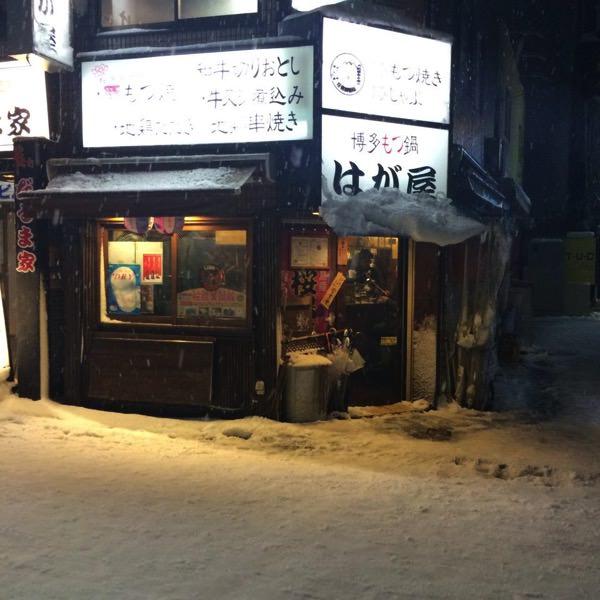 2014年雪のはが屋