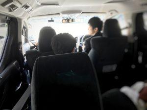 Uberを利用しているシーン