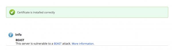SSLインストールチェッカーの正常メッセージ