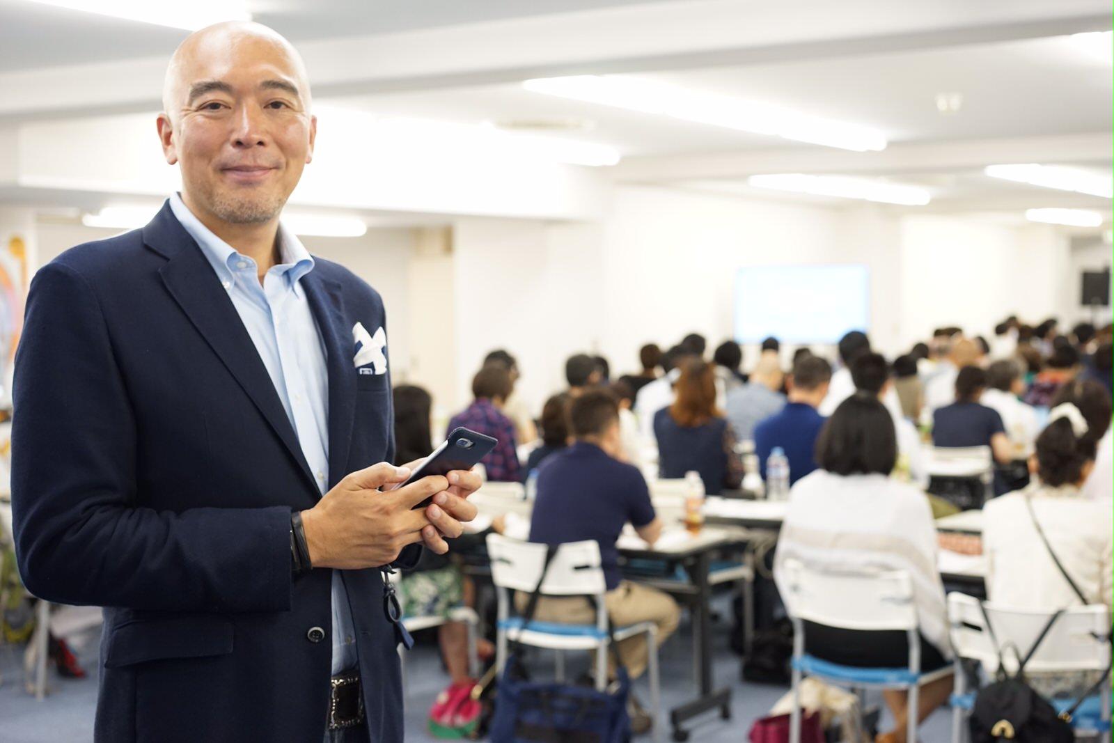 セミナー主催者の立花岳志さん