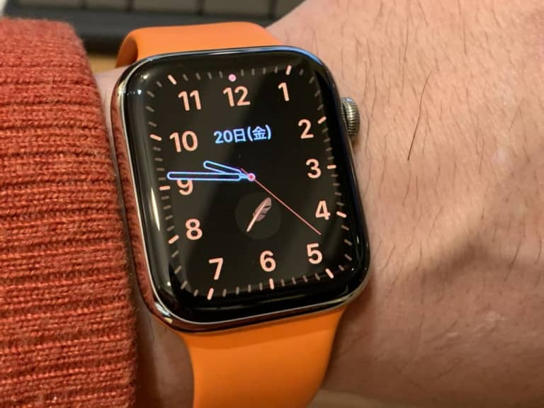 apple watchで音声入力中