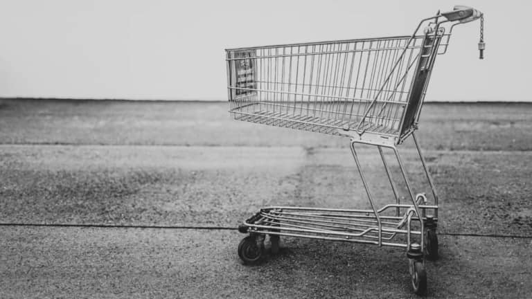 grey shopping cart